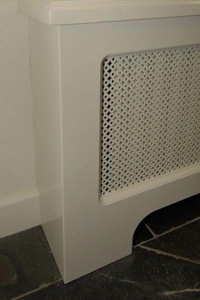 Radiatorombouw met webbing.